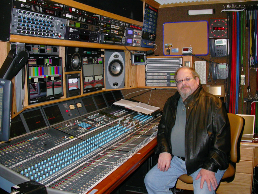 Fred Ampel in Fox sound truck