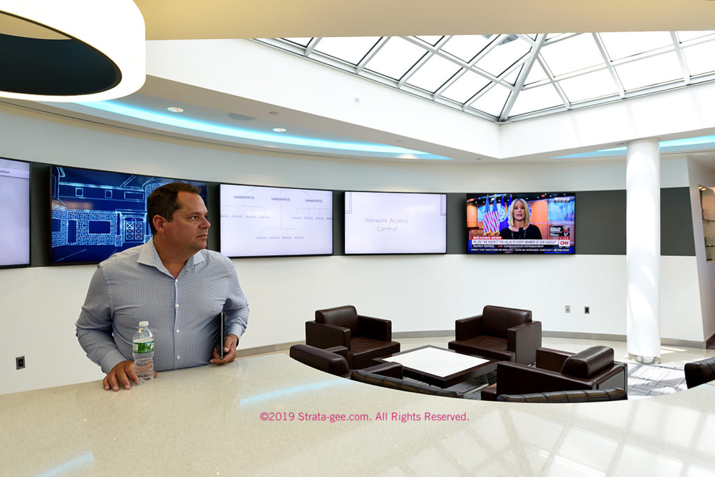 Photo of Crestron's John Clancy in Crestron Experience Center