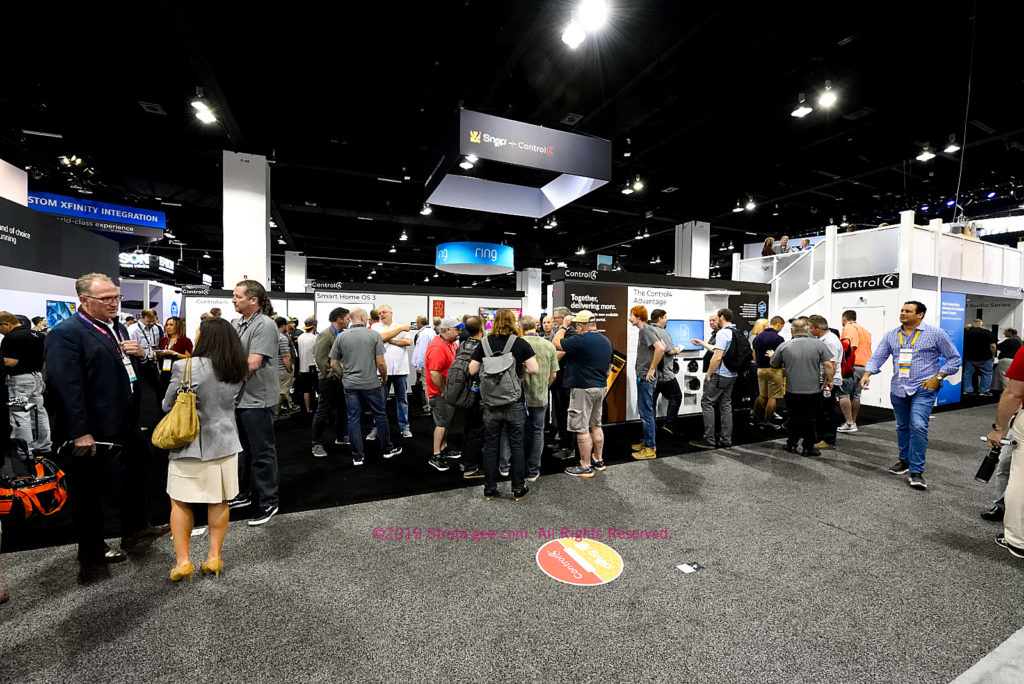 Control4's booth remained fairly busy during the entire CEDIA Expo
