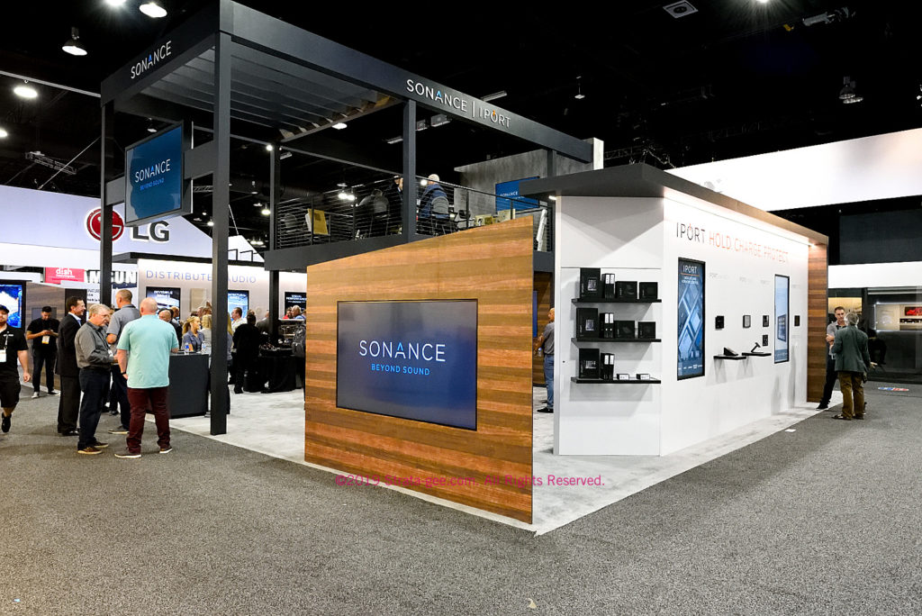 At CEDIA, Sonance showed an all-new booth along with their new logo and branding