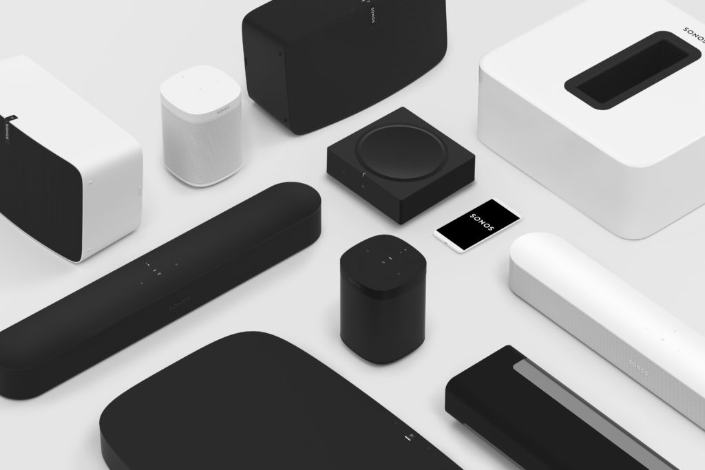Photo of multiple Sonos models