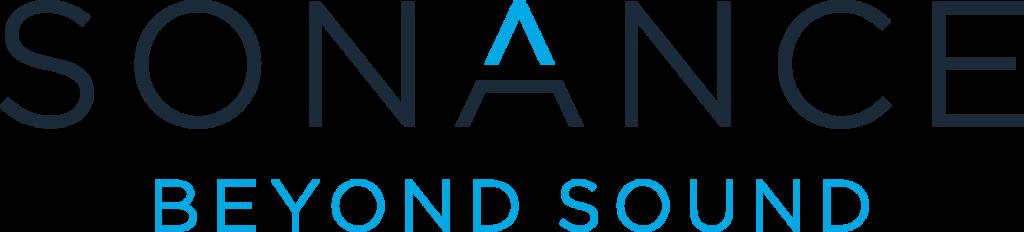 New Sonance logo with 'Beyond Sound' tagline