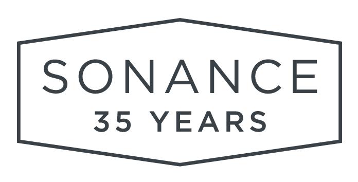 Sonance's 35th anniversary logo