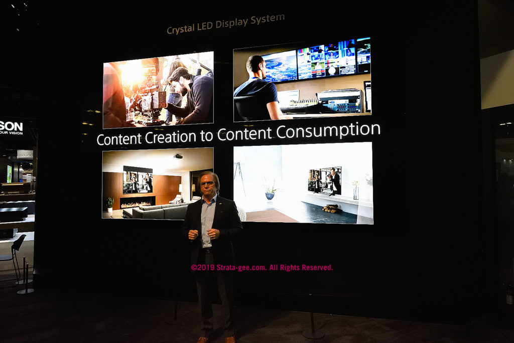 Sony's Mike Fasulo says Sony is involved from content creation to consumption