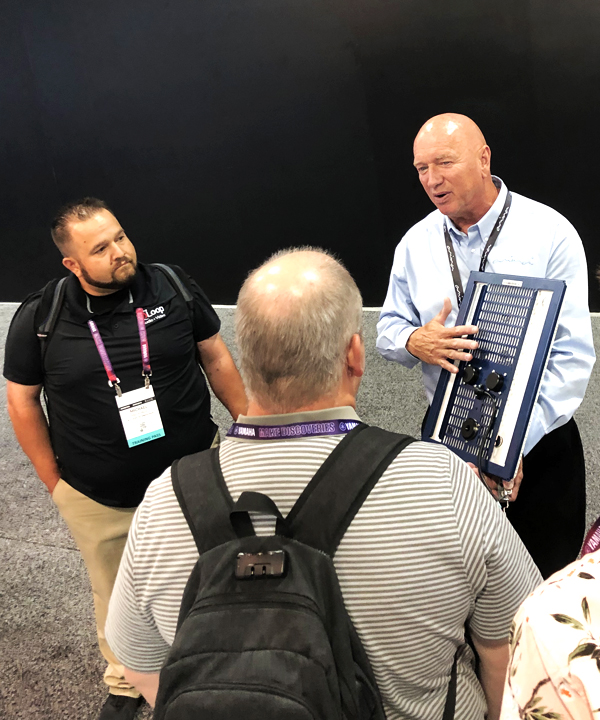Amina Technologies' Keith Vanderkley at the 2019 CEDIA Expo