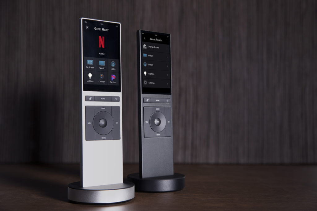 Neeo for Control4 remote is availabe in either silver or black finishes