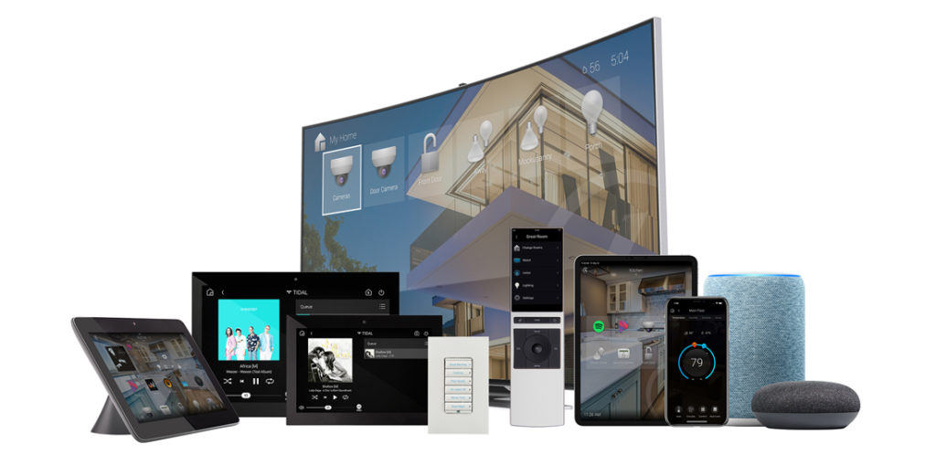 Control4 has a unified experience across all types of control interfaces