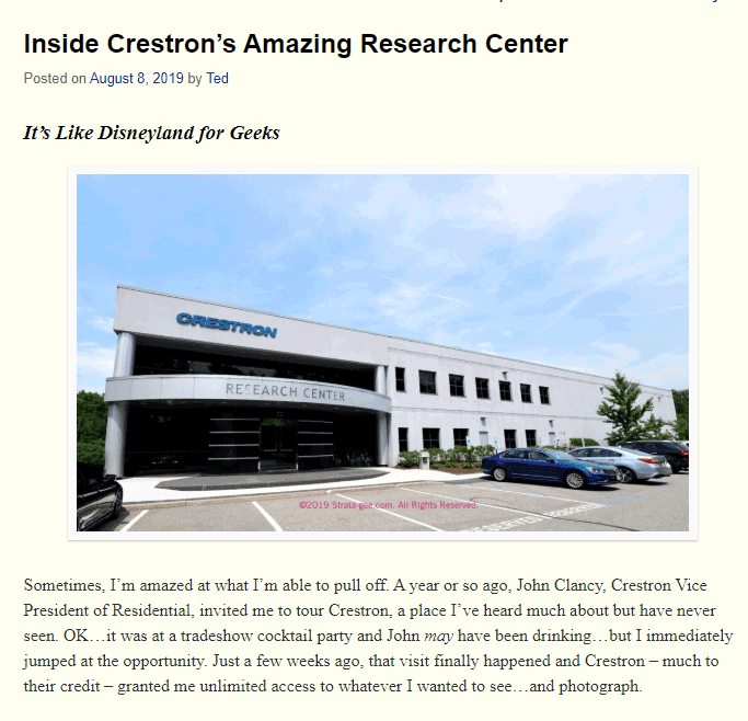 inside crestron's amazing research center