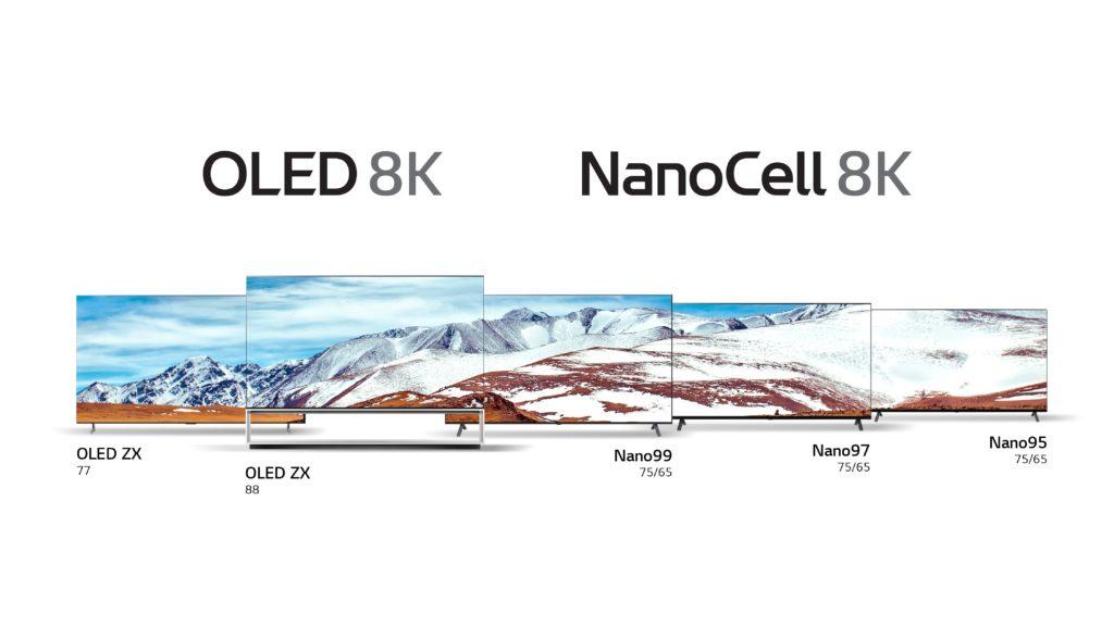 At CES 2020 LG 8K TV lineup