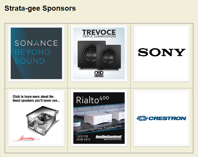 All of Strata-gee sponsors