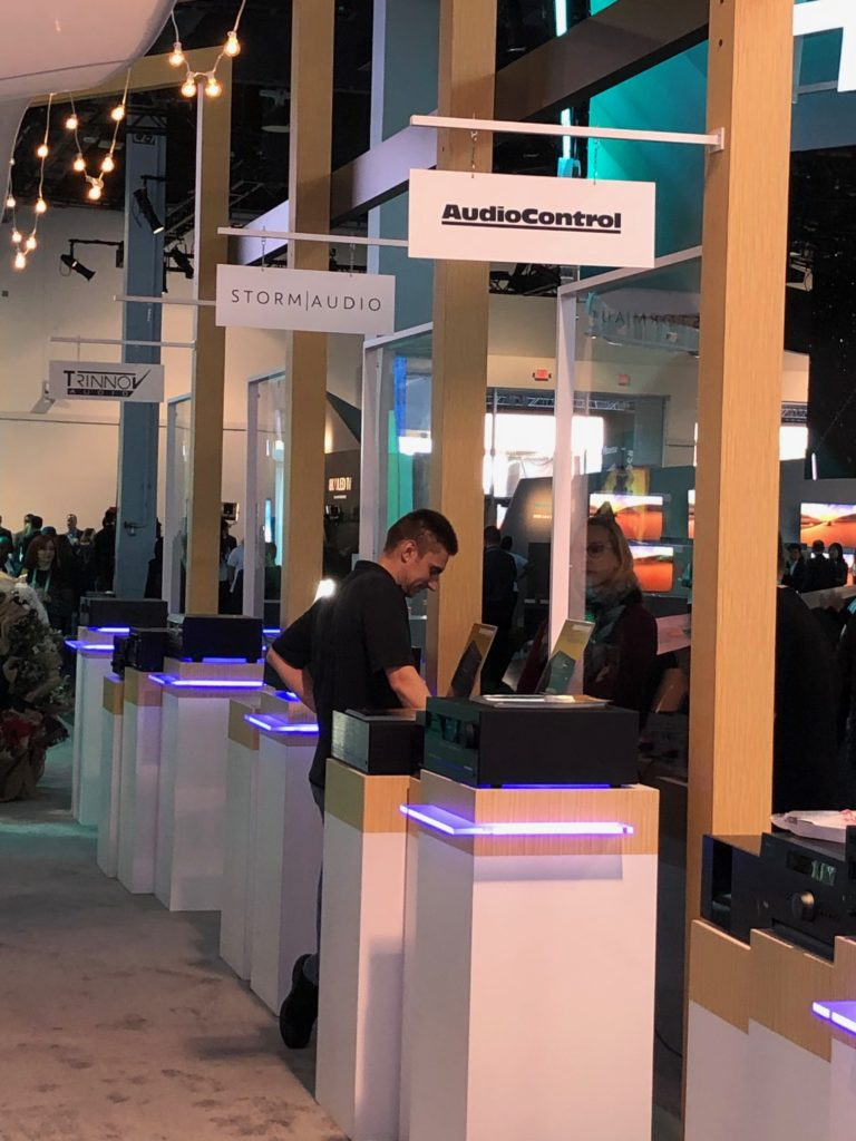 CES 2020 AudioControl products displayed in IMAX Enhanced booth at CES 2020