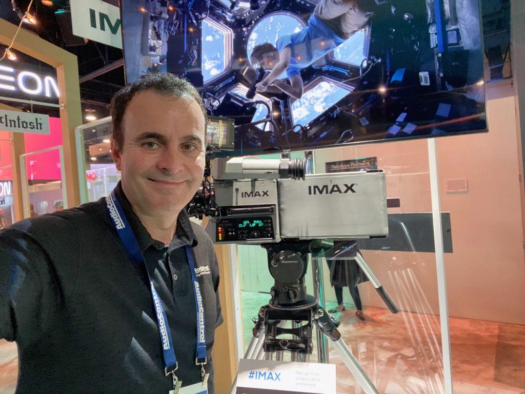 CES 2020 photo of Alex Camara in IMAX Enhanced booth