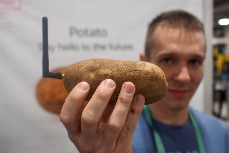 neuraspud smart potato and founder Nicholas Baldeck