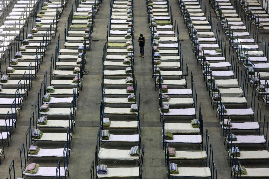 Photo from China of temporary hospital set up for Coronavirus victims
