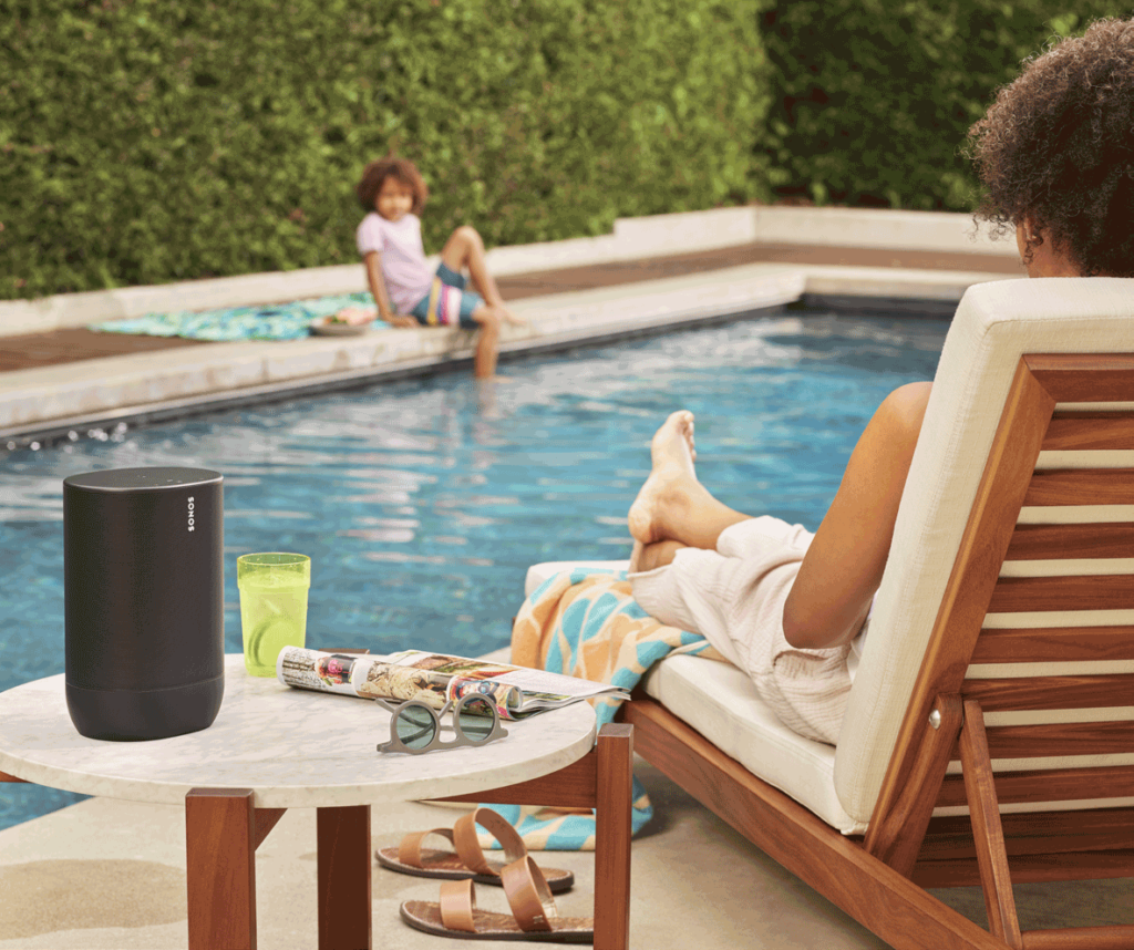 Sonos Move by the pool