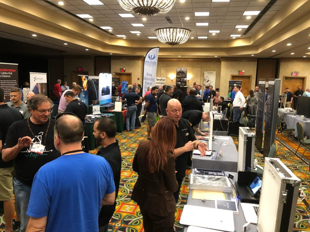 A photo of last month's Tech Summit in Florida where attendees were exposed to COVID-19