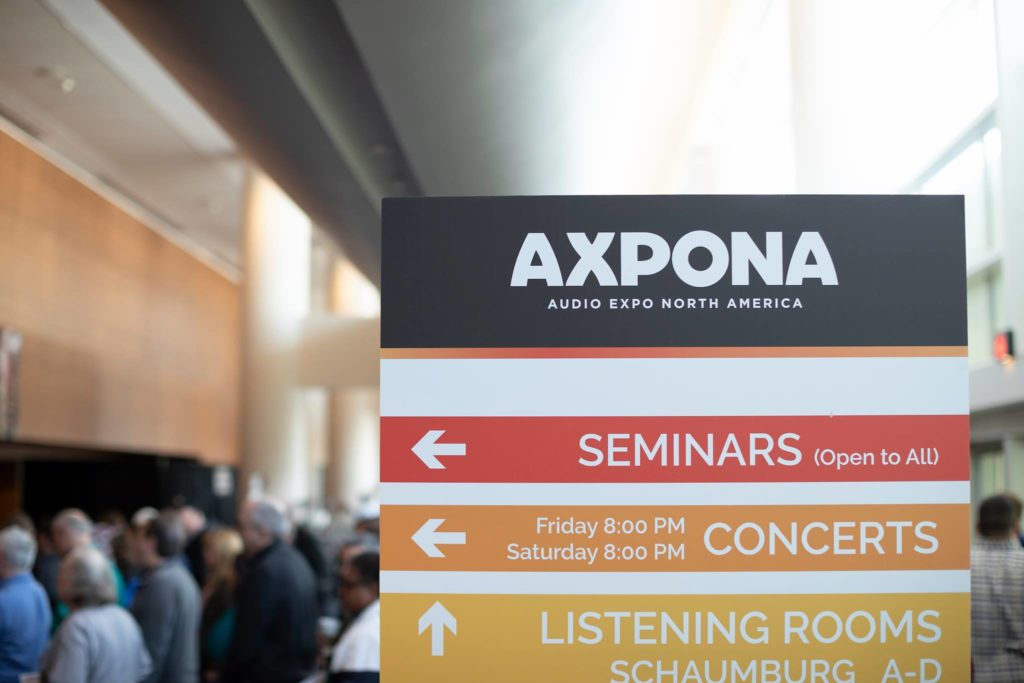 AXPONA signage from previous evenrt