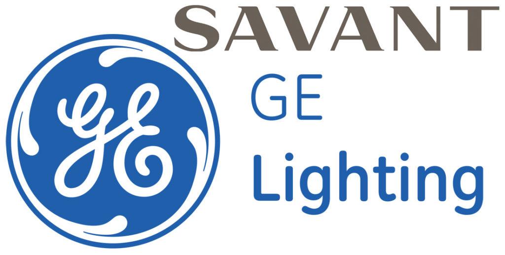 Savant and GE Lighting logos