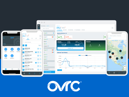 The SnapAV brand OvrC offers graphical screens to make management easy