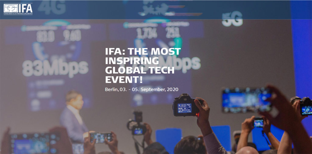 IFA 2020 is an all-new 3-day event in September 2020
