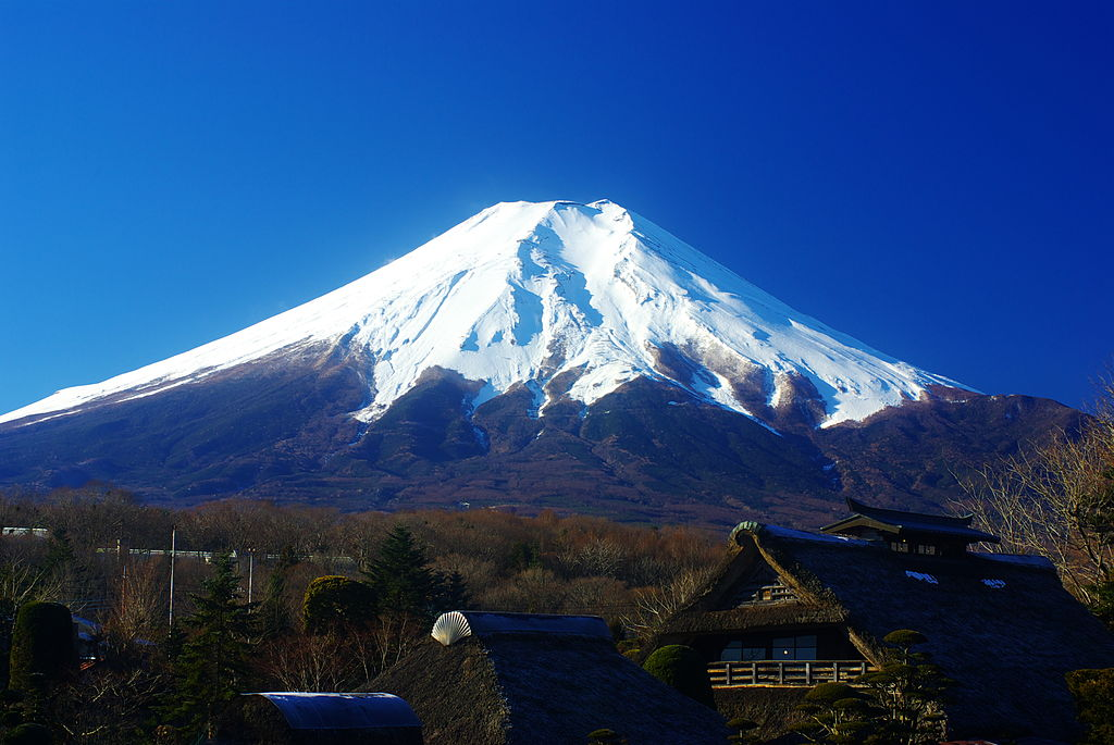 Fugaku is another word for Mount Fuji shown in this photograph