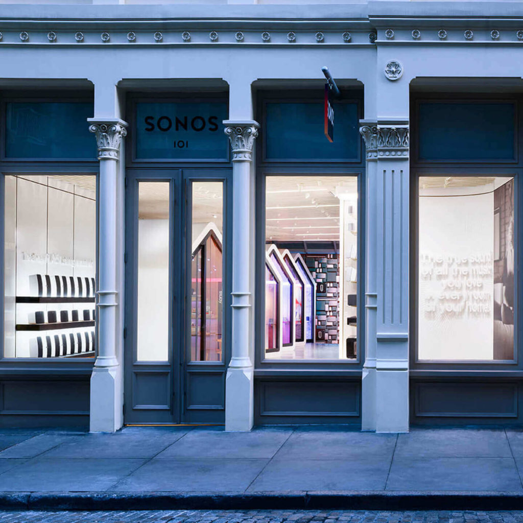 Sonos store front in New York City