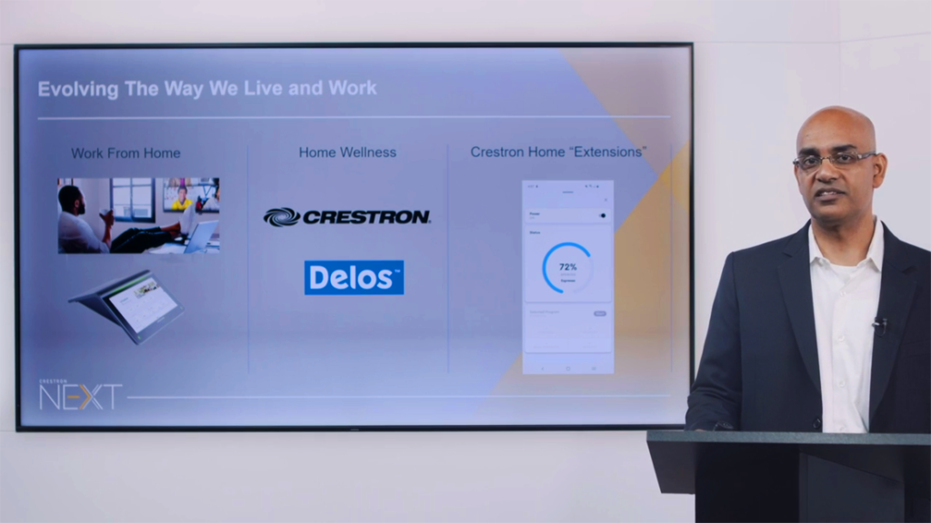 At Crestron NEXT, the company announced a partnership with Delos and offered extensions to customize the user experience