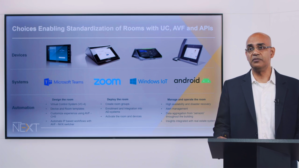 From Crestron NEXT-Ranjan Singh talks about choices offering standardization