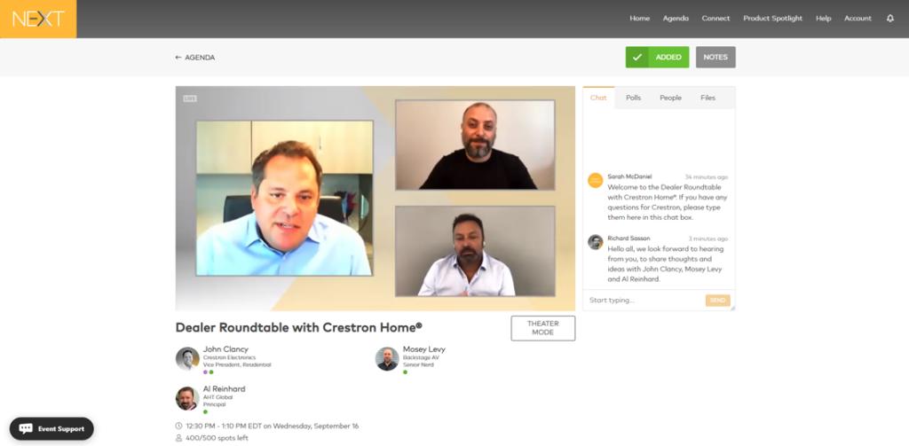 Screenshot of a dealer roundtable