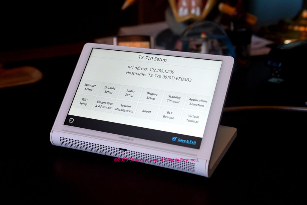 Crestron TS-770 touch screen