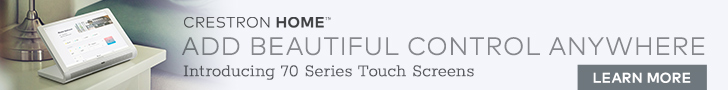 New Crestron 70 Series Touch Screens