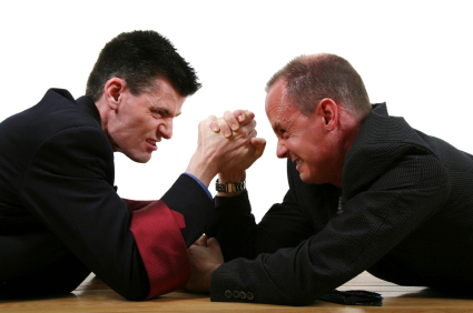 Photo of lawyers arm wrestling