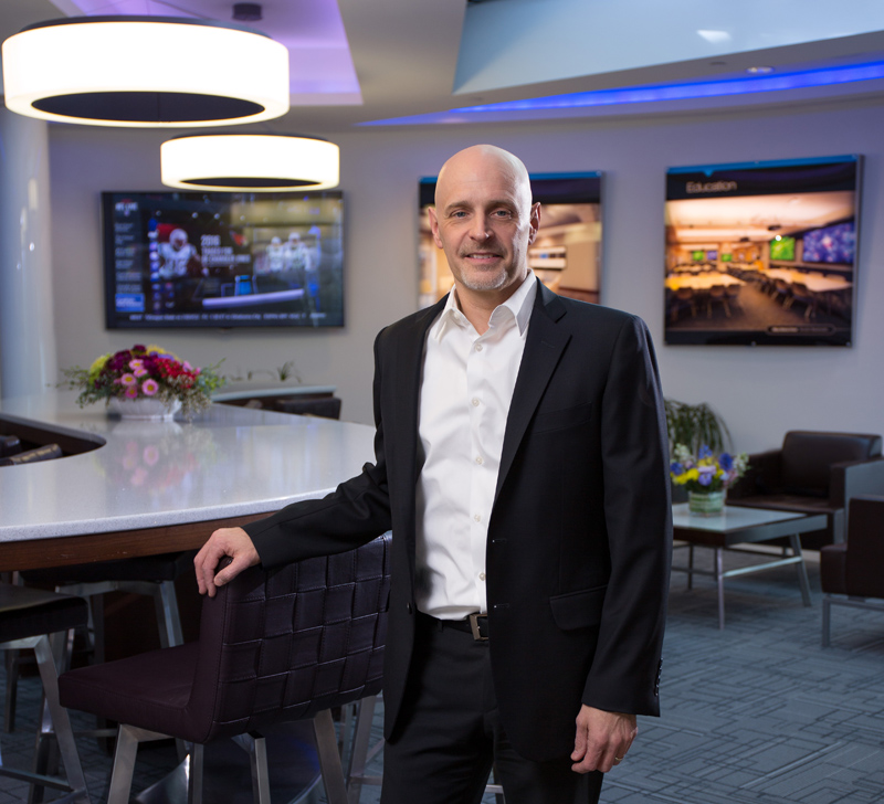 Fred Bargetzi in the Crestron Experience Center
