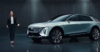 all-electric Cadillac design at CES 2021