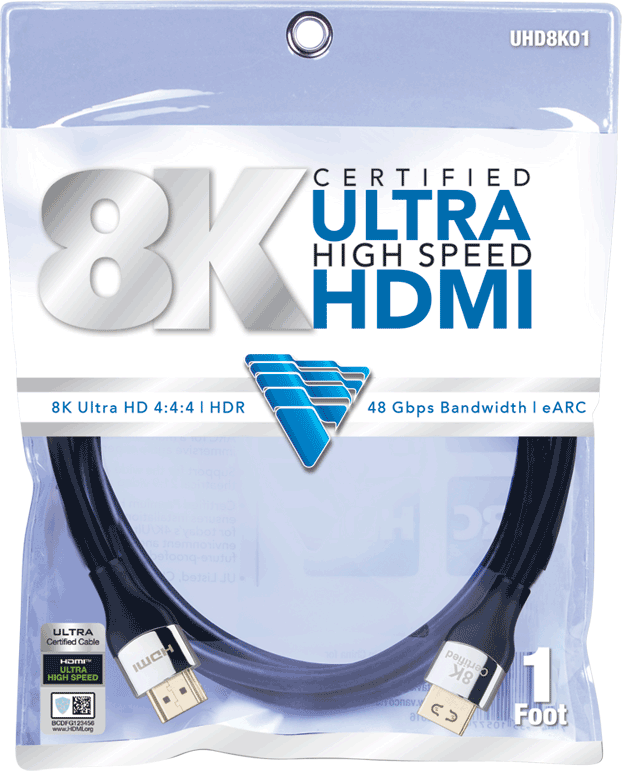 Vanco Ultra High Speed HDMI 2.1 cable packaging