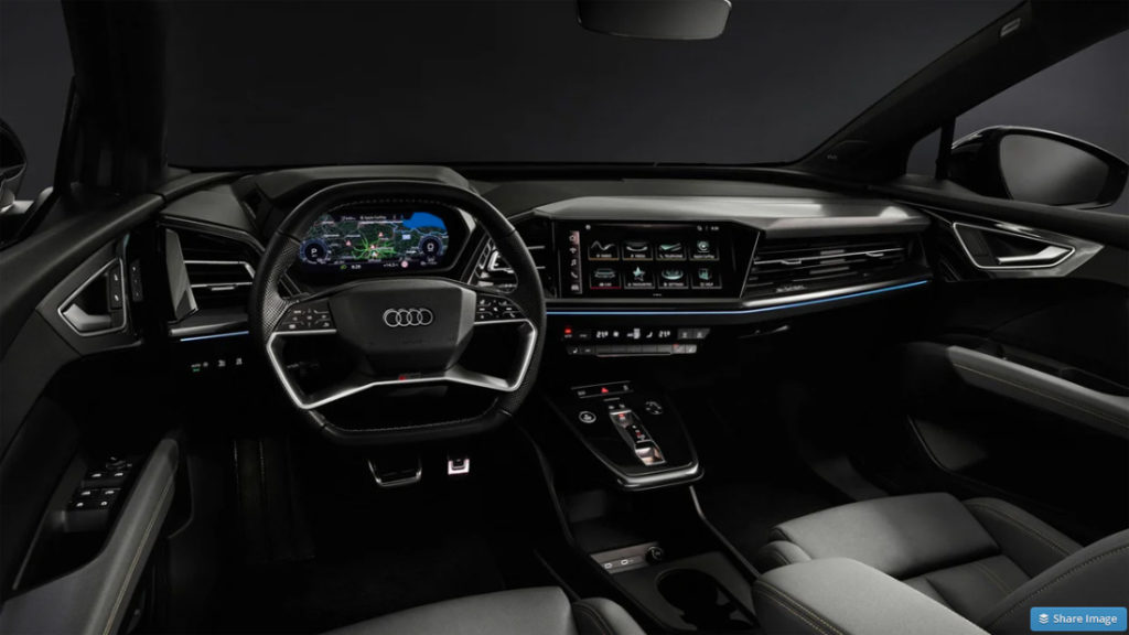 Audi Q4 E-Tron interior with Sonos car audio