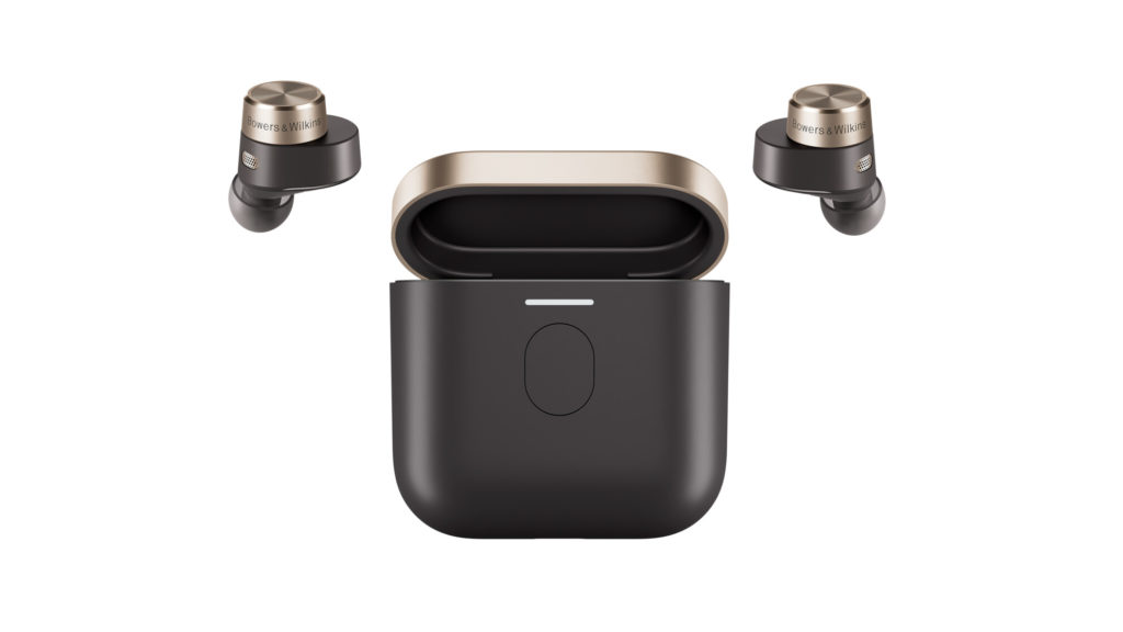 Bowers & Wilkins B&W earbuds with charging case