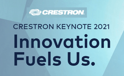 Crestron Innovations Fuel Us keynote graphic