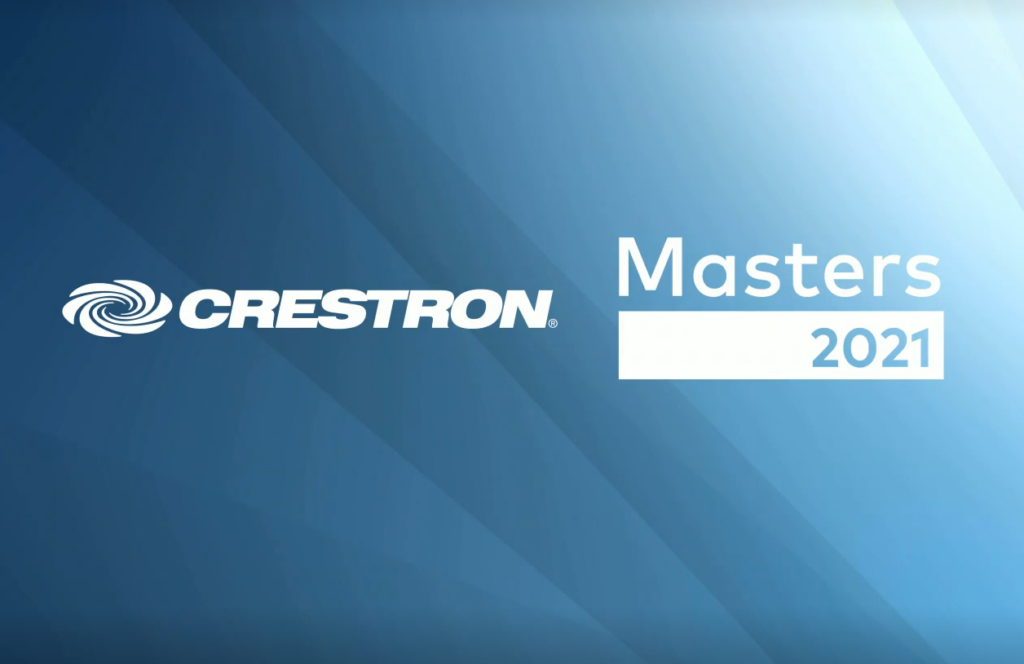 Crestron Masters 2021 title slide