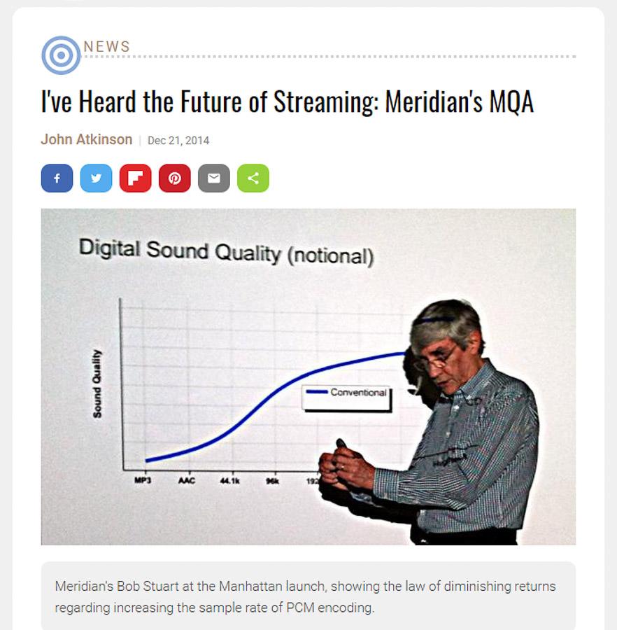 John Atkinson Stereophile article on Bob Stuart and Meridian's MQA