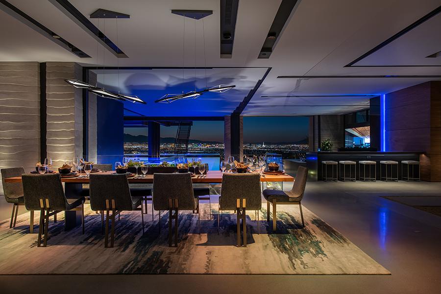 Savant Vegas Modern's dining room