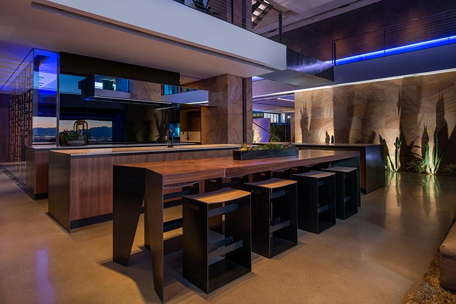 Savant Vegas Modern Experience Center's Kitchen area