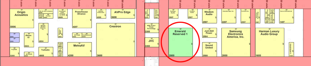 CEDIA Expo floorplan showing where Sony booth used to be