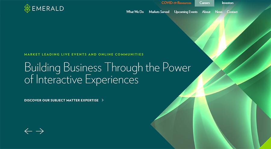 Emerald Expositions website