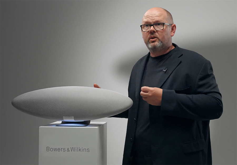 Andy Kerr of Bowers & Wilkins showing the new Zeppelin